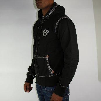 true religion black zip hoodie. Black Bedroom Furniture Sets. Home Design Ideas