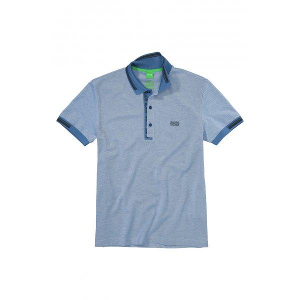 hugo boss green polo shirts paule4 in blue chameleon. Black Bedroom Furniture Sets. Home Design Ideas