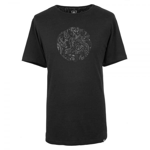 Pretty Green Pretty Green Paisley T Shirt In Black