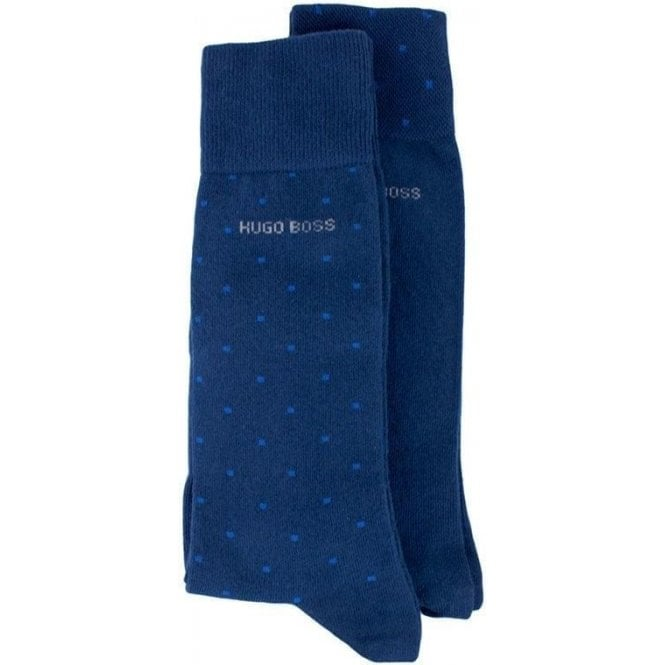BOSS Loungewear Boss Black Socks Two Pack in Dark Blue