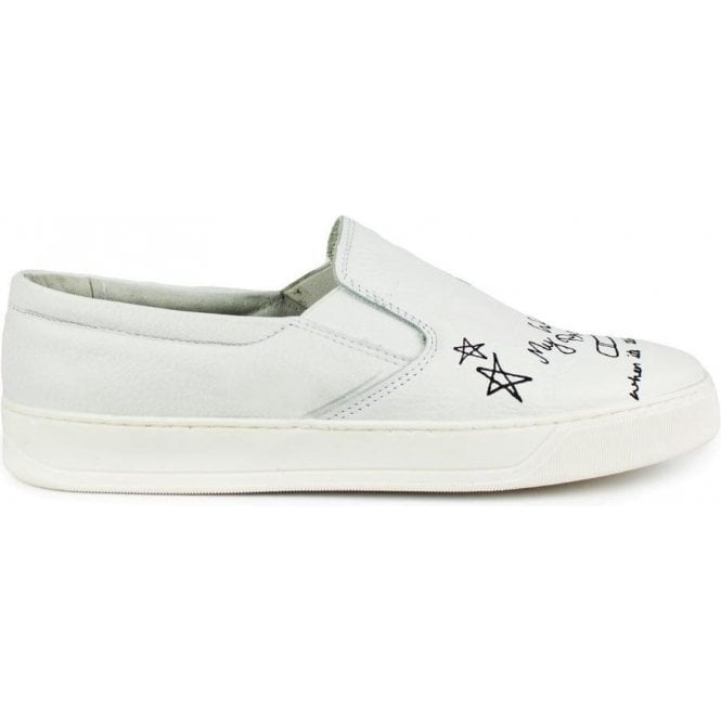 Hamaki-Ho Slip On Drawing Shoes in White