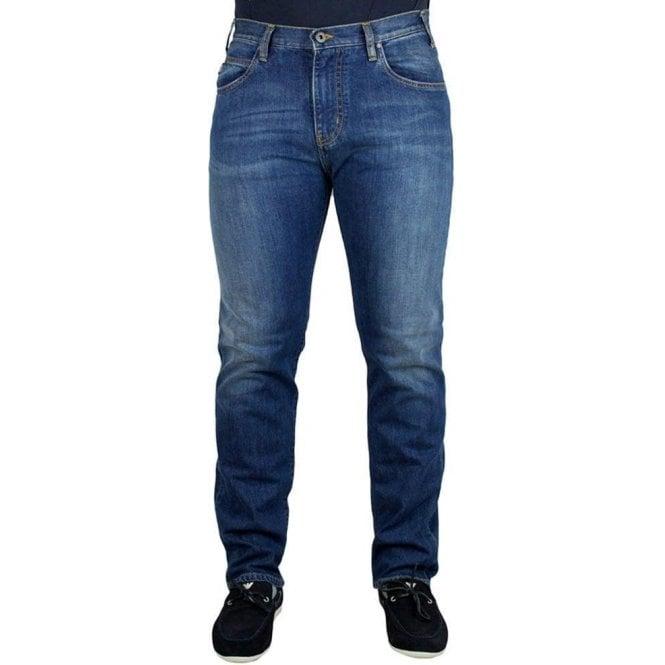 Armani Jeans J45 Slim Fit Short Leg Jeans in Mid Wash