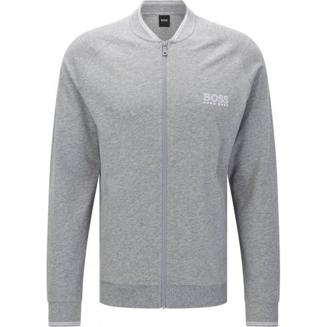 Hugo Boss Black Label Boss Black College Jacket Zip Loungewear in Grey