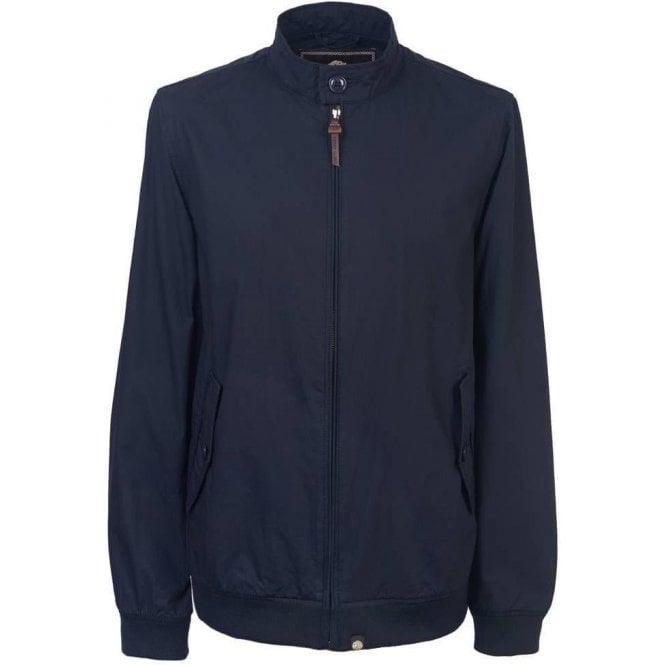 Pretty Green Dalton Harrington Jacket in Navy
