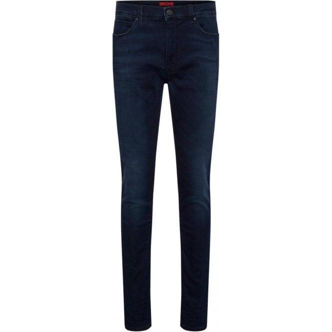 hugo hugo 734 32 regular leg jeans in dark blue. Black Bedroom Furniture Sets. Home Design Ideas