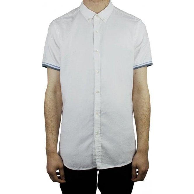 Hamaki-Ho Tipped Sleeve Shirt in White