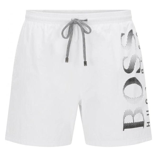Hugo Boss Black Label Boss Black Octopus Swim Shorts in White