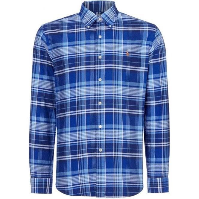 Polo Ralph Lauren Ralph Lauren Polo Blue Check Long Sleeve Shirt in Navy