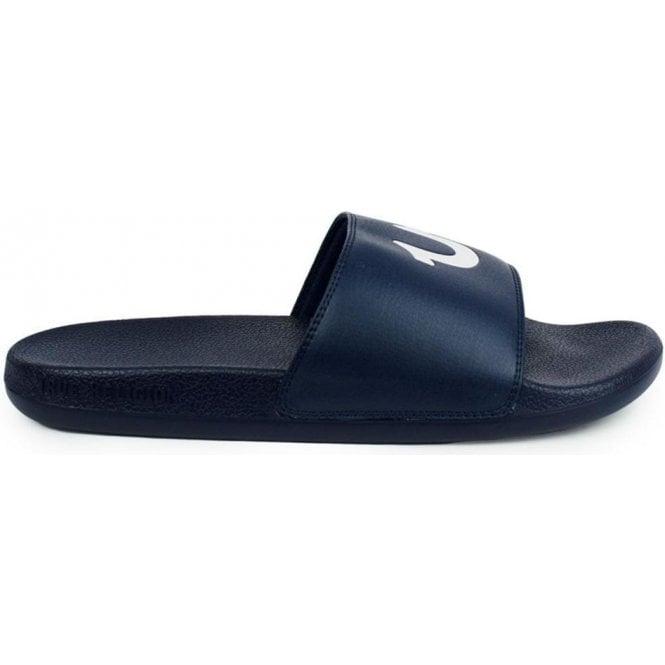 True Religion Slider Flip Flops in Navy