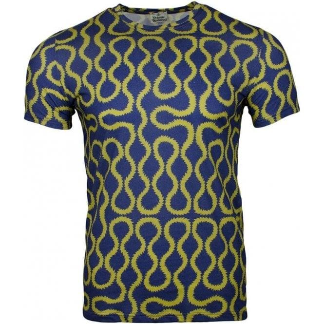 Vivienne Westwood Underwear Squiggle Tee in Blue