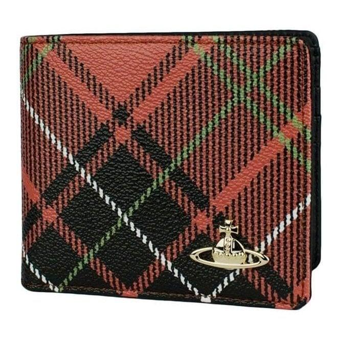 Vivienne Westwood Tartan Wallet in Red