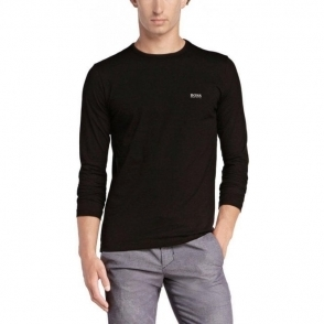 Boss Green T-shirts Togn Long Sleeve in Black