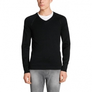 Hugo Knitwear Scos in Black