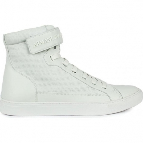 Armani Jeans Footwear High Top in White