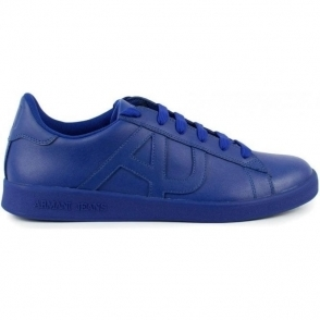 Armani Jeans AJ Logo Trainers in Blue