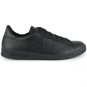 Armani Jeans AJ Black Trainers in Black