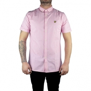 Lyle & Scott Vintage Gingham Check Shirt in Pink