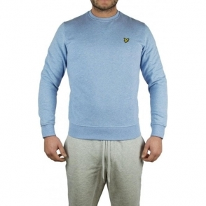 Lyle & Scott Vintage Crew Logo Sweatshirt in Baby Blue