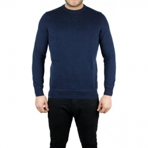 Lyle & Scott Vintage Long Sleeved Crew Neck Knitwear in Navy