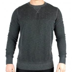 True Religion Sweatshirt TR Wide Crew In Black