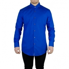Boss Black Jery Formal Shirt in Bright Blue
