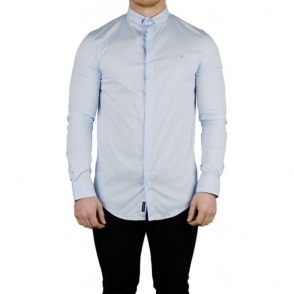 Armani Jeans AJ Woven Shirt in Baby Blue
