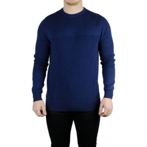 Lyle & Scott Vintage Rib Crew Neck Knitwear in Navy