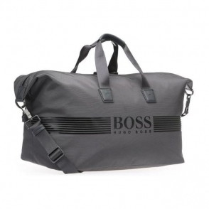 Boss Green Pixel Holdall Bag in Dark Grey