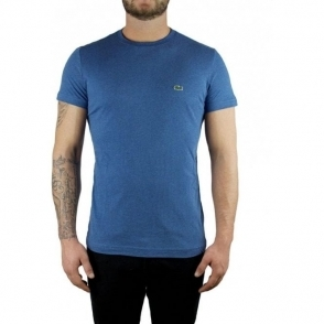 Lacoste Plain Logo T-Shirt in Blue
