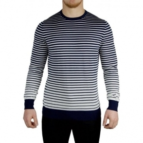 Hugo Stripe Fade Knitwear in Dark Blue