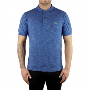 Lacoste Marl Logo Polo Shirt in Blue
