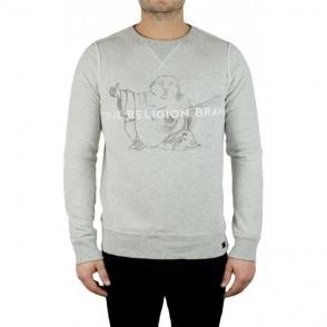 True Religion Buddha Sweatshirt in Grey
