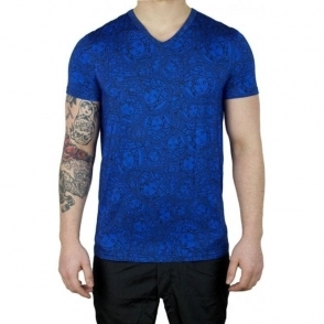 Versus Versace Underwear Medusa Head T-Shirt in Blue