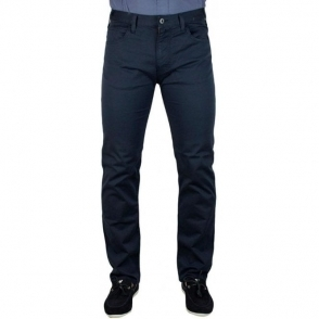 Armani Jeans Man Woven Short Leg Jeans in Navy