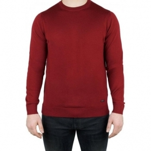 Armani Collezioni Round Neck Knitwear in Red