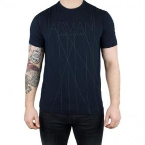 Armani Collezioni Logo Tee T-Shirt in Navy