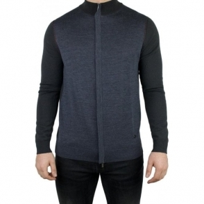 Armani Collezioni Cardigan Knitwear in Dark Grey