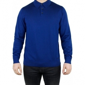 Armani Collezioni Polo Top Knitwear in Blue