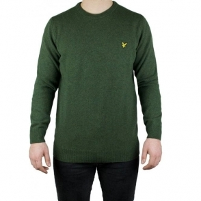 Lyle & Scott Vintage Crew Neck Lambswool Knitwear in Green