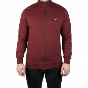 Lyle & Scott Vintage Funnel Zip Sweatshirt in Claret Jug
