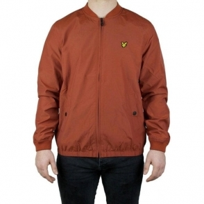 Lyle & Scott Vintage Bomber Jacket in Dark Red