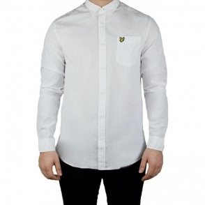 Lyle & Scott Vintage Garment Shirt in White
