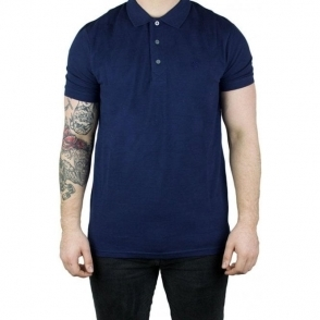 Lyle & Scott Vintage Checker Polo Top in Navy