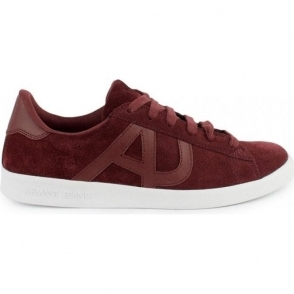 Armani Jeans Trainers AJ Suede in Red