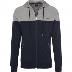 Boss Black Jacket Hood Loungewear in Dark Blue