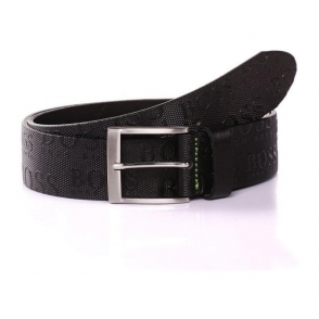 Boss Green Torialo Belt in Black