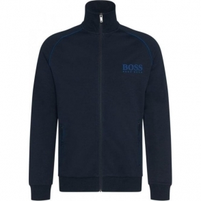 Boss Black Jacket Zip Loungewear in Dark Blue
