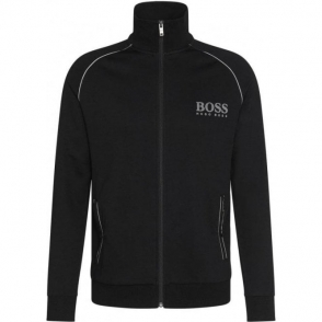 Boss Black Jacket Zip Loungewear in Black
