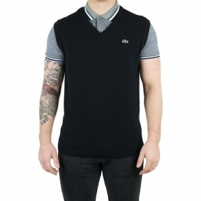 Lacoste V-Neck Knitwear in Black