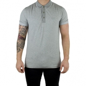 Boss Green Paule Polo Shirt in Light Grey